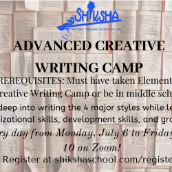Advanced Creative Writing