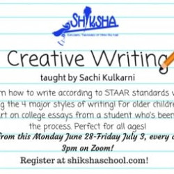 Creative Writing: high school